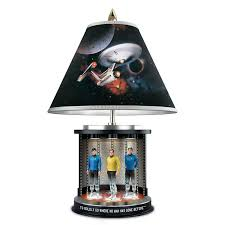 star trek illuminated transporter tabletop lamp with kirk spock