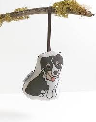 plush australian shepherd ornament