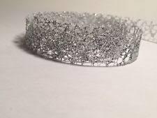 silver glitter ribbon glitter ribbon ebay