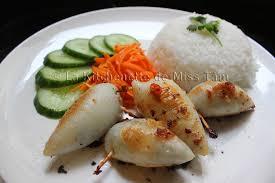recette de cuisine vietnamienne calamars farcis à la vietnamienne mực nhồi thịt la kitchenette