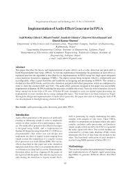 implementation of audio effect generator in fpga pdf download