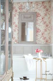 Toile Bathroom Wallpaper by 7 Inspirations For Marble And Wallpaper Bathroom Designs French