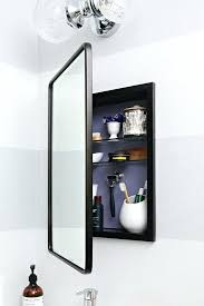black framed recessed medicine cabinet black framed medicine cabinet recessed or surface phenomenal 8 black