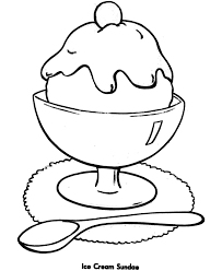 easy shapes coloring pages free printable ice cream sundae easy