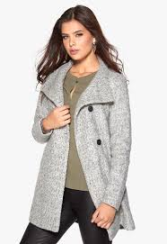 only sophia wool coat light grey melange bubbleroom