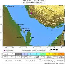 middle east earthquake zone map m6 3 earthquake rocks southwestern iran felt in dubai abu dhabi