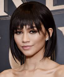 short hairstyles with center part and bangs short hairstyles with bangs to try this spring instyle com