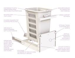 hidden laundry hamper hideaway bins launches a base mount laundry hamper that works with