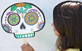 Day Of The Dead Mask Make Your Own Day Of The Dead Mask Free Printable Babycenter Blog