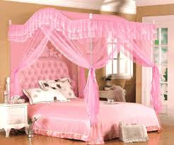 girls full size canopy bed bedroom sweet teenage design with