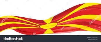 Flag Of Macedonia Red Flag Yellow Sun Republic Macedonia Stock Illustration