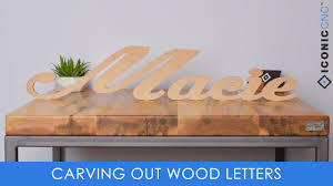 cutting out letters on a cnc machine youtube