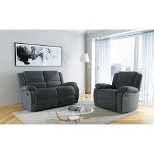 ensemble de canapé pack promo ensemble canapé 2 places relax fauteuil relax chris