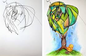 artist turns her 2 year old u0027s sketches into watercolor paintings