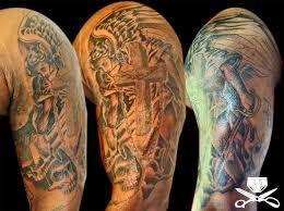 heaven tattoos for men angel tattoo sleeves heaven tattoo men