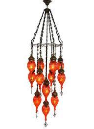 Orange Glass Chandelier Lighting U2013 Orange Lolo Rugs And Gifts