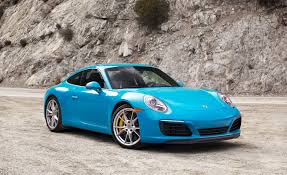 miami blue porsche turbo s 2017 porsche 911 carrera s pdk automatic test review car and