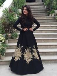 stylish dress indian stylish designer party black gown anarkali salwar