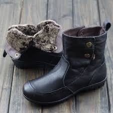 womens boots australia womens shoes australia fur boots black brown genuine leather slip