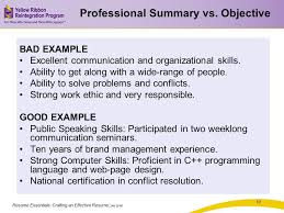 Strong Resume Summary Resume Summary Vs Objective The Most Important Thing On Your