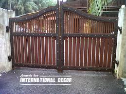 Gate designs Gate designs for private house and garage wooden