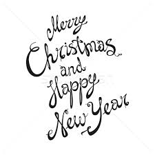 merry and happy new year card with lettering