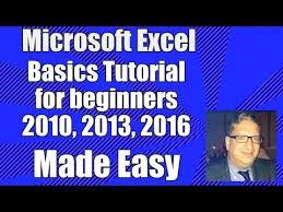tutorial excel basic excel basics tutorial for beginners microsoft excel 2007 2010