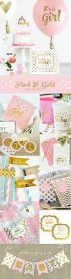 pink gold baby shower pink and gold baby shower favor boxes girl baby shower party