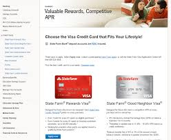 state farm credit card application online