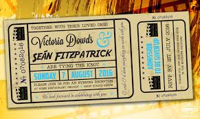 Movie Ticket Wedding Invitations Cinema And Movie Themed Wedding Stationery Wedfest