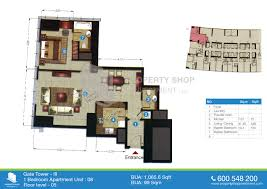Shop Floor Plan Floor Plans Of The Gate Tower 3 Al Reem Island