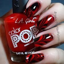 image via red and black nails designs crafts pinterest black