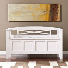 standard furniture young parisian storage bench in white shimmer