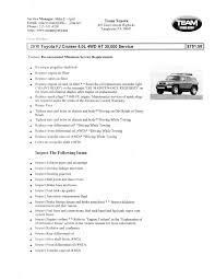 toyota u0027s 30k maintenance checklist vs toyota dealer u0027s 30k