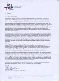 recommendation letter for student entering middle cover
