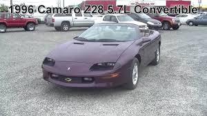 1996 convertible camaro 1996 chevrolet camaro z28 5 7l auto convertible 8up28