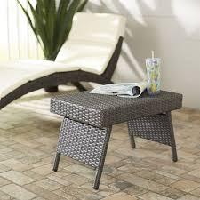 Circle Patio Furniture by Varick Gallery Ellington Circle Outdoor Foldable Wicker Side Table