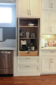 Pull Out Kitchen Shelves by Best 25 Appliance Cabinet Ideas On Pinterest Appliance Garage