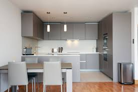 open plan grey kitchen design modern kitchen london by lwk
