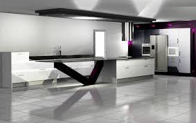 cuisine ultra moderne cuisine ultra blanche et moderne plan de travail noir en of cuisine