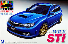 small subaru hatchback aoshima 04913 subaru impreza wrx sti blue 1 24 scale kit pre