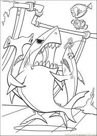 sharks coloring free finding nemo coloring pages