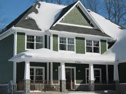 exterior house paint green black and white color scheme wood