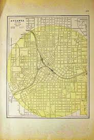 Map Of Atlanta Prints Old U0026 Rare Atlanta Ga Antique Maps U0026 Prints