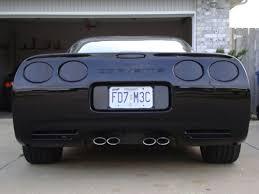corvette mods c5 c5 corvette 1997 2004 acrylic rear blackout kit 7 set