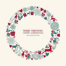 christmas elements wreath vector christmas pinterest wreaths