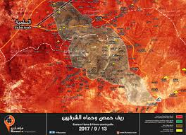 Syria Map Control by Syria Map Update Syrian Forces Converge On Isis In Central Syria
