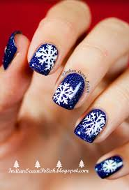 240 best snowflake nail art images on pinterest holiday nails