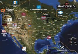 Los Angeles Map Poster by Shadowrun Digital Tools Box Poster Shadowrun 5