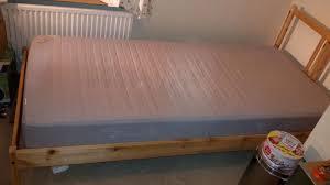 lade wood ikea single bed fjellse slats sultan lade and mattress
